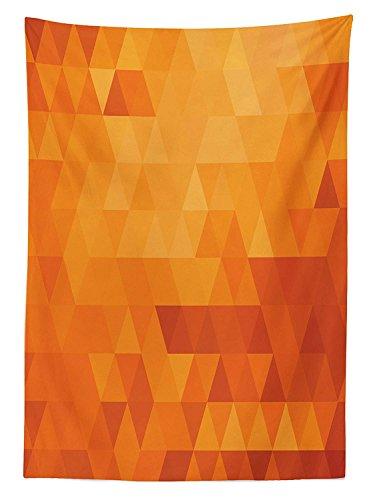 Yeuss orange Tischdecke Outdoor, Triangle Mosaik Formen Muster Abstrakt Digital Pixel Wie Effekt Print, Dekorative Waschbar Picnic Tischdecke, Burnt Orange, 132,1x 177,8cm, 60