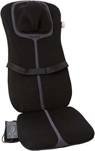 Beurer MG 254 Shiatsu-Sitzauflage, Nacken und Rückenmassage, Massage der gesamten Wirbelsäule, schwarz/grau