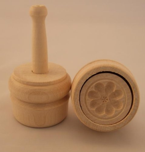 Hofmeister Holzwaren Butterdurchstoßform, 30 Gramm, Rosette, aus Ahorn-Holz