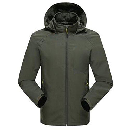 WU LAI Herren Jacken Bergsteigen Wear Wear Breathable Fall Thin Outdoor,ArmyGreen-XXXXL (Wear Wu Jacke)
