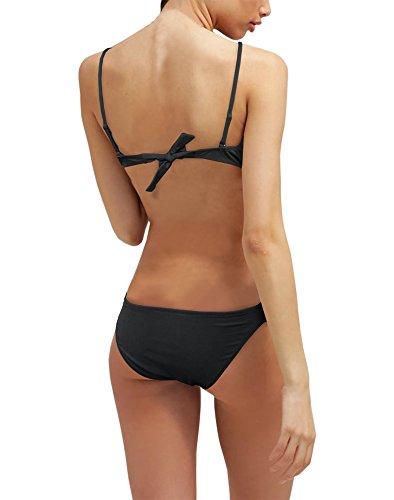 Girogama Damen Bikini-Set Schwarz