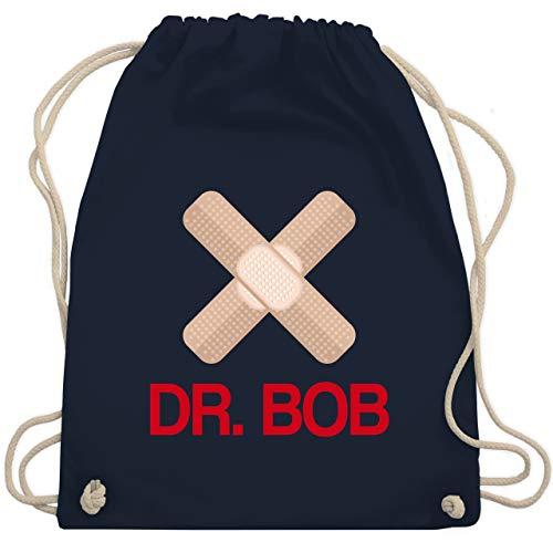 Karneval & Fasching - Dr. Bob Kostüm Pflaster - Unisize - Navy Blau - WM110 - Turnbeutel & Gym ()
