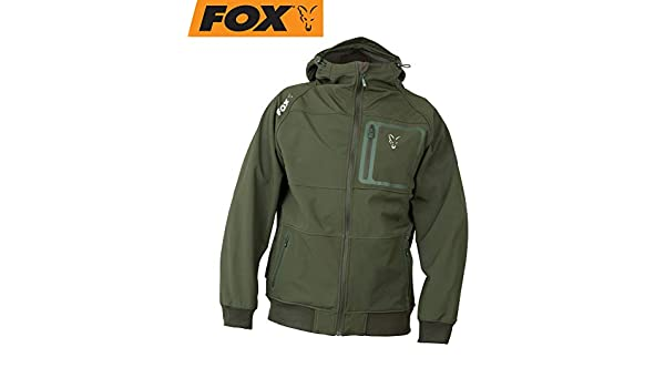 Fox Collection Greensilver Shell Hoodie Softshell Pullover