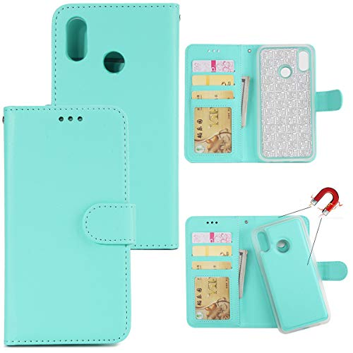 Gift_Source Huawei P20 Lite Hülle, [Grün] PU Leder Hülle Handy Schutzhülle Brieftasche Handyhülle mit Kartensteckplätze und Faltbare Standfunktion Flip Case Cover für Huawei P20 Lite (5.84