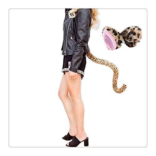 WM-EILIAN Katze Cosplay Halloween Leopard Katze Fuchs Haar Ohr Haarnadel Kopfschmuck Schwanz Cosplay Halloween Kostüm - Leopard Katze Kostüm Kit