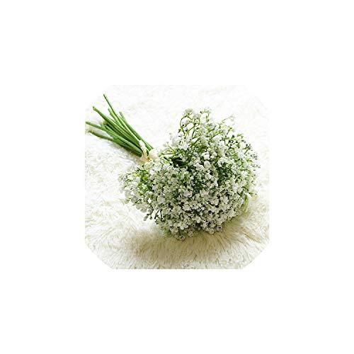 Eternity Bliss Künstliche Blumen 16pcs / Set Gefälschte Gypsophila Blumenstrauß Arrangement Hochzeit Hausgarten-Partei-Dekoration, 1
