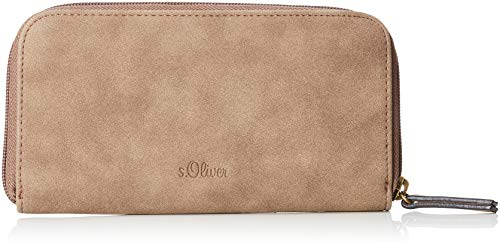 s.Oliver (Bags Damen 39.810.93.5637 Geldbörse, Braun (Desert Palm), 3x10x19 cm