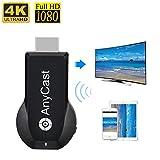 4K & 1080P Wireless HDMI-Display-Client, iPhone Ipad Miracast-Dongle für TV, verbesserte Toneseas-Streaming-Gerät Smart-TV-Adapter für MacBook Laptop Samsung Android-Telefone