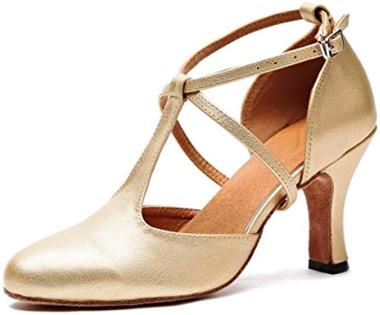 Willsego T-Strap da Donna Ballroom Latin Salsa Ballerine Scarpe da Sposa in oro da Sposa UK 4.5 (Coloreee   -, Dimensione... | Ottima qualità  | Uomo/Donne Scarpa