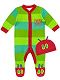 The Very Hungry Caterpillar Baby Sleepsuit & Hat Green