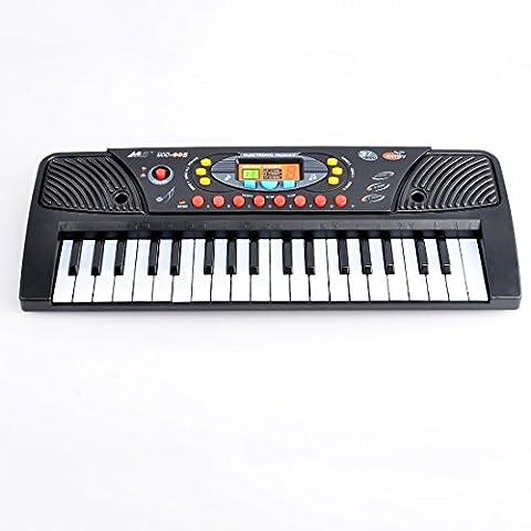 Clavier Électronique, WOLFBUSH Jouet Musical de Piano de 37 Claviers avec Microphone pour Bébé Enfant