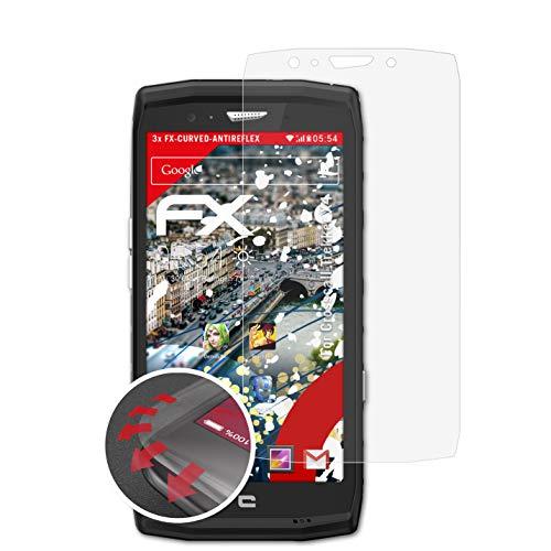 atFolix Schutzfolie passend für Crosscall Trekker X4 Folie, entspiegelnde & Flexible FX Bildschirmschutzfolie (3X)
