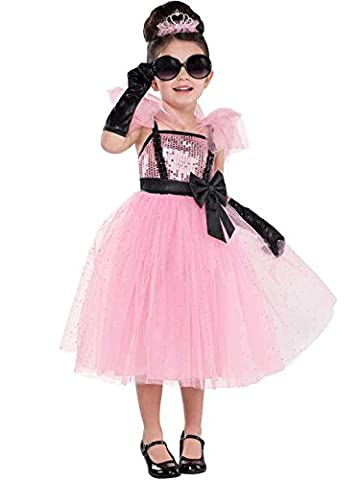 Costumes Hollywood Glam Halloween - Filles Tutu Glam Princess Costume Rétro Rose