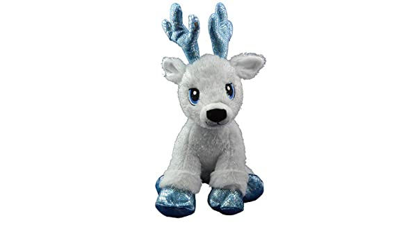 """NO SEW BUILD YOUR OWN TEDDY BEAR MAKING KIT BLUE SPARKLY REINDEER 16/""""//40cm"""