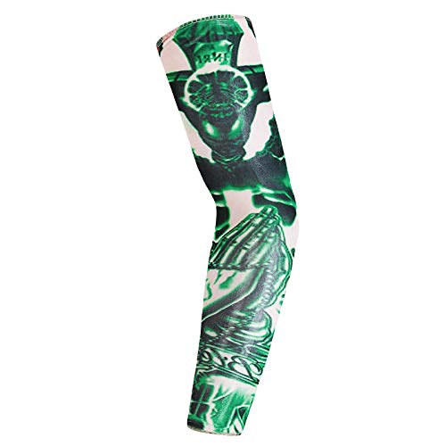 3er Pack Arm für Männer & Frauen UV-Schutz lange Sonnenhülsen, Tattoo Cover Up Ärmel zum Abdecken der Arme, Radfahren Golf Laufen Fahren (Cover-up-tattoo-ärmel)