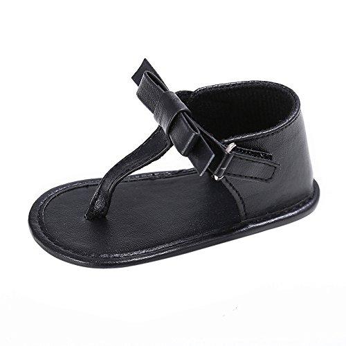 Preisvergleich Produktbild Vovotrade Baby-Quaste Sandalen Kleinkind -Prinzessin erste Wanderer Mädchen Kid Schuhe (Size:11, Schwarz)