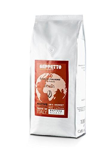 GEPPETTO Barista Italiano 100% Robusta Kaffeebohnen 1kg, italienischer Caffè