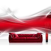 Bolsas de papel de pared diseño abstracto de la pared - no, 214 papel pintado de papel pintado de papel pintado cuadro de imagen de la foto de pared diseño abstracto en la pared de colour rojo y hinder básica
