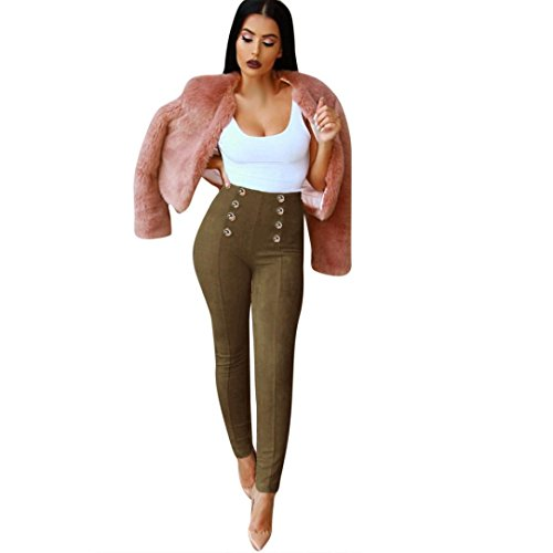 DAYSEVENTH PANTS Women High Waist Solid Cotton Slim Skinny Trouser Stretchy Jeggings Pencil Pants