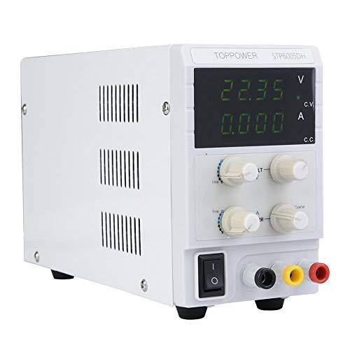 DC Netzteil, STP6005DH 4 LED Einstellbares Schaltnetzteil, 0-60V Ausgangsspannung(Eu Plug)