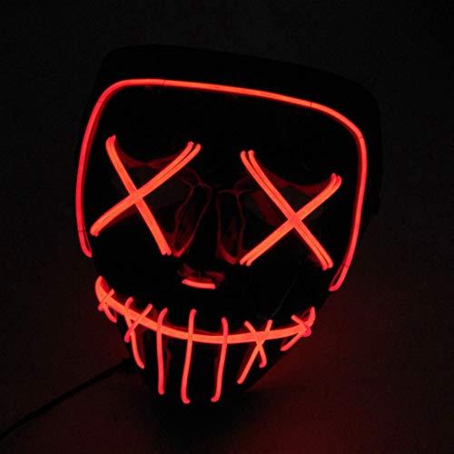 Halloween Maske LED Leuchten Lustige Masken Große Festival Cosplay Kostüm Liefert Party Masken Glow In Dark (Farbe : D)
