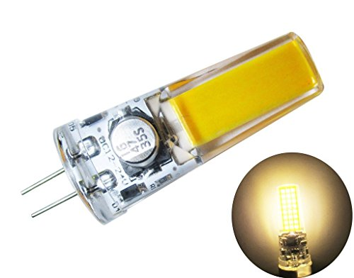 18 Licht-kristall-kronleuchter (GRV G4 COB 2508 4 W DC12 ~ 24 V Schrank LED Silikon Licht Kristall 35 W Leuchtmittel Halogen Track Ersatz, warmweiß, g4, 4.00 wattsW 12.00 volts)