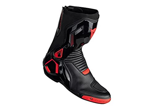 Stiefel Dainese Course D1 Out Air Boots schwarz/anthrazit, BLACK/RED-FLUO, 43
