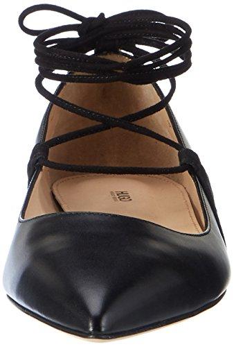 HUGO Damen Fatima 10199298 01 Geschlossene Ballerinas Schwarz (Black)