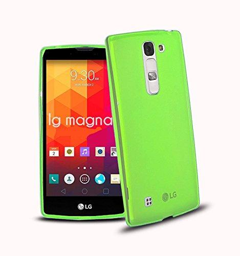 TBOC® Custodia Gel TPU Verde per LG Magna H502 in Silicone Ultra Sottile e Flessibile