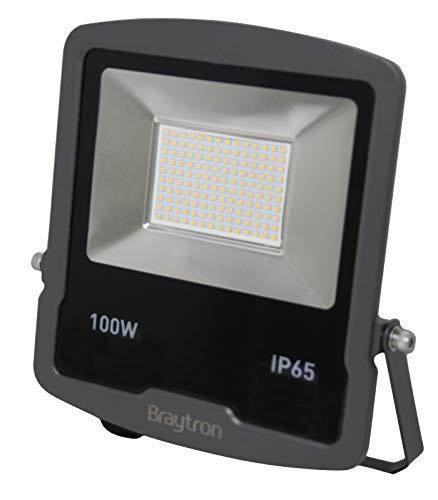 100W IP65 LED Fluter Strahler Slim Flutlicht Wasserdicht Kaltweiß 6500K Scheinwerfer Außenstrahler Spotlight Außenbereich Garten Lampe