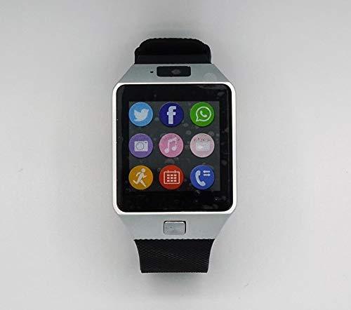 Profi Premium Cudi Smart Watch Uhr SIM Phone Modell 2019 mit Kamera Smartwatch Sport Armband Aktivitätstracker Bluetooth iOS+Android Armbanduhr Fittness Tracker (Silber)