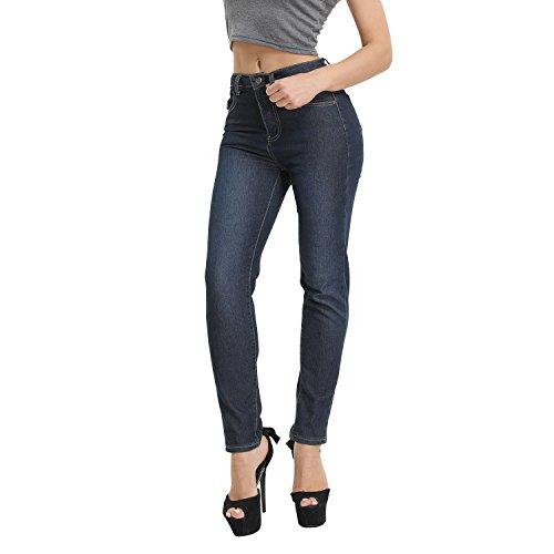 Hocaies Damen Skinny Jeanshose Ladies Trousers Casual Cotton Skinny Jeans Women High Waist Denim Long Trouser Elasticity Tubes Jeans Stretch Jeans Soft Ultimate Skinny Fit (38 1/2, 01 Dunkel blau) (Fit Stretch Ultimate Denim)