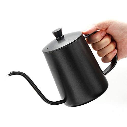 Cvthfyk Oreja de café Cubierta de Mano Punching Pot 304 Pote de Boca Fina de Acero Inoxidable Teflon...