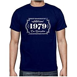 Green Turtle T-Shirts Millesimé 1979 Cru D'éxception Anniversaire 40 Ans T-Shirt Homme X-Large Marine