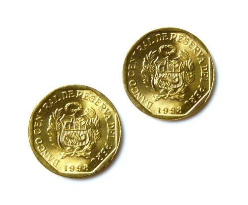 Quality Handcrafts Guaranteed Peru Manschettenknöpfe Münze-Geschenke für Vater-Neuheit präsentiert-Geschenk-Box enthalten (Peru Münzen)