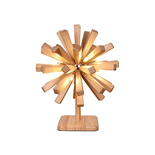 Lampe de table Desk Lamps Woody Explode La Boule Forme Bureau Salon Bar Décoration Table Lampe 40W 220V LED