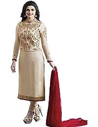 Fashion Story Prachi Desai Embroidered Straight Salwar Suit