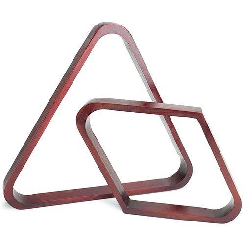 /Billiardqueue-Eckständer Billiard Supplies Mahagoni Fleck Triangle und Diamond Billard Ball Racks -