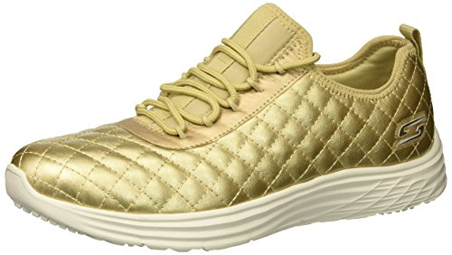 Skechers Damen Bobs Swift - Social Hustle Sneaker, Gold, 38 EU - Sneaker Frauen Skechers Bob