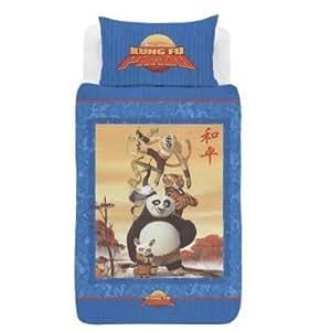 Kung Fu Panda lit simple housse de couette avec Taie