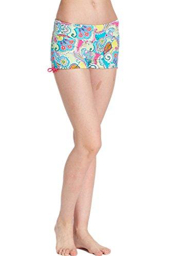 Damen Badeshorts Bikinihose Hotpants Sportbikini Schwimmshorts Bunte Farben 2017-Neu-3