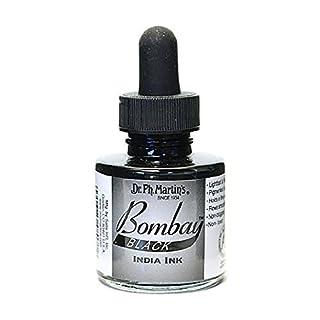 Dr Ph. Martin's Bombay India Ink, 1.0 oz, Black (7BY)