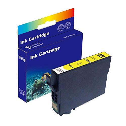 12ml Yellow D&C Druckerpatrone (kein Original) für Epson T1284 Stylus Office BX305f BX305fd BX305fw...
