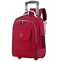WEISHENGDA 17 inches Water-Resistant Wheeled Rolling Backpack School Books Bag for Girls Boys and Students