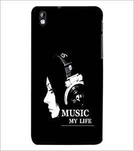 PrintDhaba Quote D-1999 Back Case Cover for HTC DESIRE 816 (Multi-Coloured)