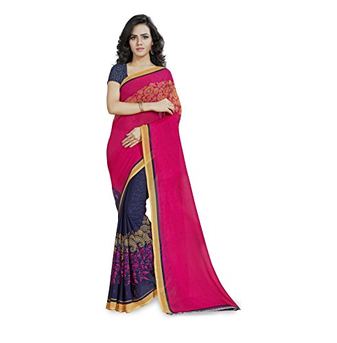 Anand Sarees Saree with Blouse Piece (1190_1_Pink_Free size)