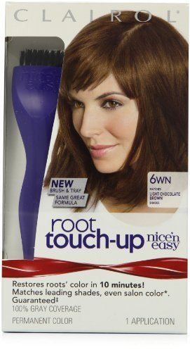 Clairol Nice 'N Easy Root Touch-Up 6wn Light Chocolate Brown 1 Kit by Clairol - Clairol Touch-up