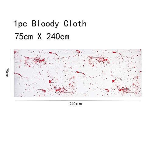CTOBB 1 stück Halloween Schürze Rot Blut Parodie Lustige Blut Muster Kunststoff Party Küche Liefert Dekorationen, Farbe, Blut Tuch