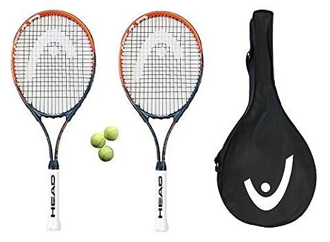 2 x 27 Head Ti.Radical &à raquettes de Tennis et 3 balles RRP