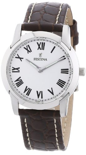 Festina Women's Quartz Watch F16507/4 with Leather Strap